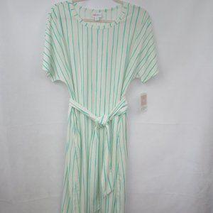 NWT LulaRoe Green Stripe Marley Dress 2XL